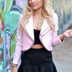Pink Cropped Jacket
