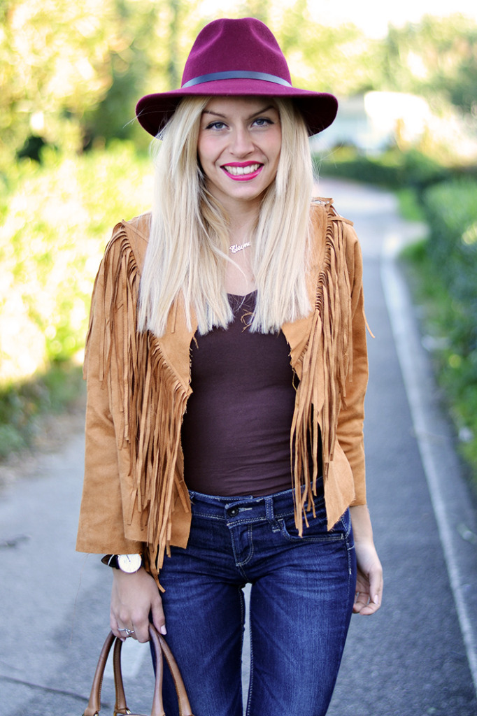 Suede fringed jacket