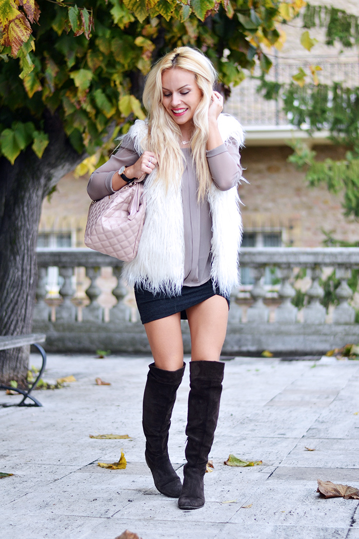 Loristella borse AI 2014-2015, Giorgia&Johns abbiagliamento, over the knee boots outfit ideas, stivali bassi sopra al ginocchio – fashion blogger It-Girl by Eleonora Petrella