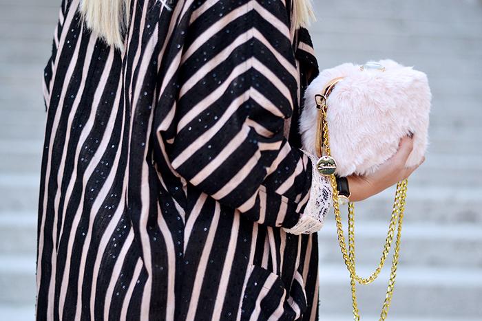 Ginger London abbigliamento, completo giacca pantalone, Sodini bijoux, borse Sodini, faux fur bags – italian fashion blogger It-Girl by Eleonora Petrella
