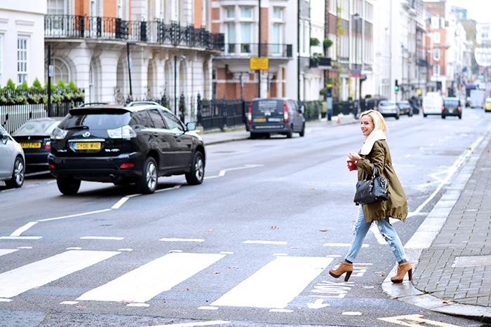 Ventifive abbigliamento italiano, modelli parka inverno 2014, parka coat outfit ideas, look Londra, ripped jeans – fashion blogger It-Girl by Eleonora Petrella
