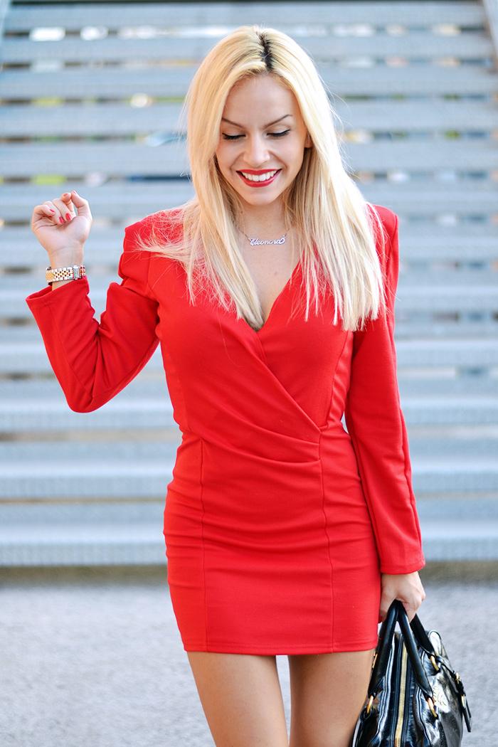 Red dress, vestito rosso occasioni speciali, Sheinside dresses, Zara heels, borse Prada bags – outfit elegant chic It-Girl by Eleonora Petrella
