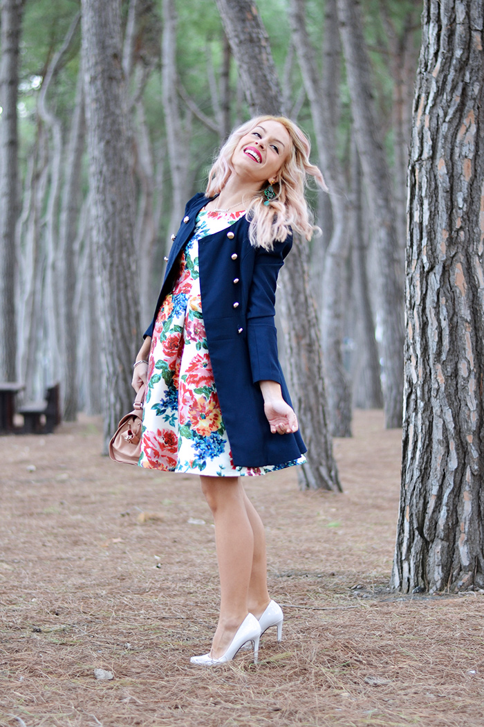 MyBejewel gioielli, vestito a fiori, floral dress, Gossip girl coat, Sheinside spedizioni Italia – outfit italian fashion blogger It-Girl by Eleonora Petrella