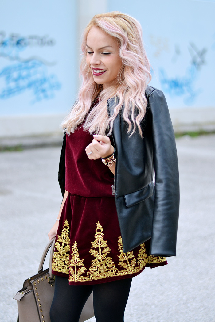 blonde and Pink Hair, Bicolor hair, tendenze capelli 2014, L'Oreal hair chalk, Chicwish spedizioni Italia, Michael Kors Selma bag