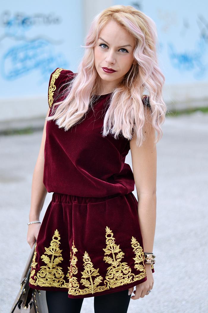 blonde and Pink Hair, Bicolor hair, tendenze capelli 2014, L'Oreal hair chalk, Chicwish spedizioni Italia, Michael Kors Selma bag