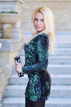 Sequined dress, vestito con paillettes, vestito occasioni speciali, dress with sequins, Ottaviani clutch, Zara high heels - outfit italian fashion blogger It-Girl by Eleonoa Petrella