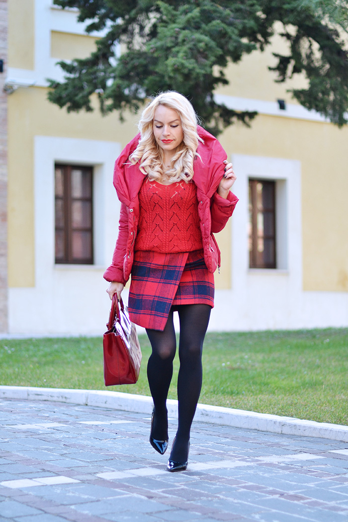 plaid skirt, asymmetric skirt, blackfive Italia spedizioni opinioni affidabile, giubbotto Pinko, giacca Pinko - outfit italian fashion blogger It-Girl by Eleonora Petrella