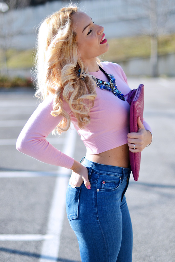 Anneclaire maglieria, Hudson jeans, jeans skinny, soprabiti primavera 2015, Gigi New York clutch, Gigi New York bags - outfit italian Fashion blogger It-Girl by Eleonora Petrella