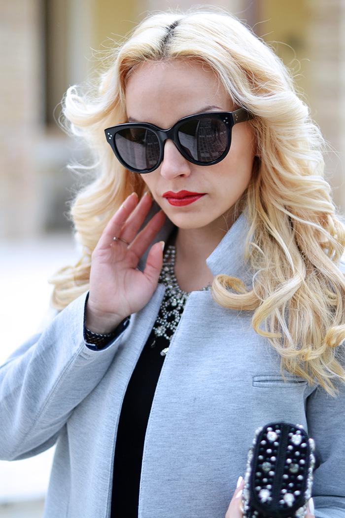 Sunglasses shop online, sunglasses shop italia opinioni, occhiali Céline Audrey, Audrey Hepburn inspired look, oversized coat, long coat, outfit winter 2015, look inverno 2015 – It-Girl by Eleonora Petrella