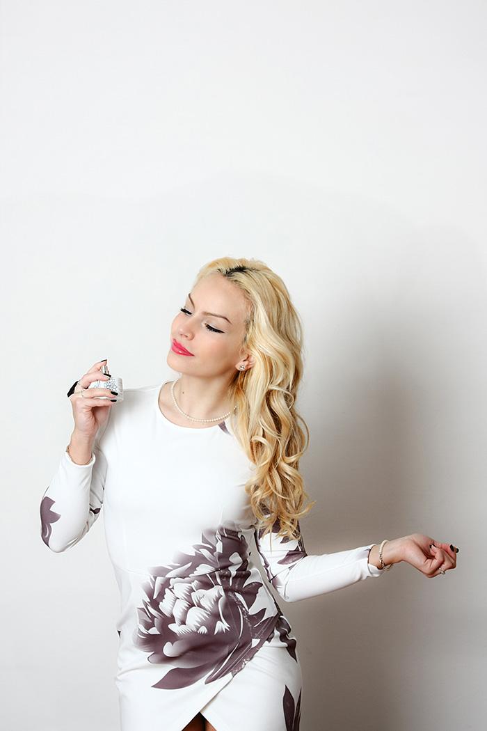 fragranze Simone Cosac, profumi artigianali, Simone Cosac Trama profumo, beauty blogger italiane, floral dress, Sheinside opinioni Italia