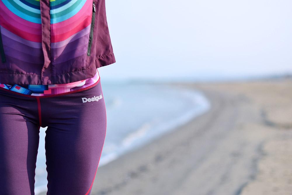 Desigual fitness sport, abbigliamento da palestra, come vestirsi per andare a correre, leggings palestra, giacche per correre in strada, look per correre in città, Nike sneakers running - It-Girl by Eleonora Petrella