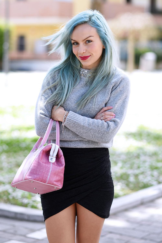 Cult Shoes scarpe primavera estate 2015, capelli colorati tendenze PE 2015, crazy color hair, pastel blu hair - outfit fashion blogger It-Girl by Eleonora Petrella