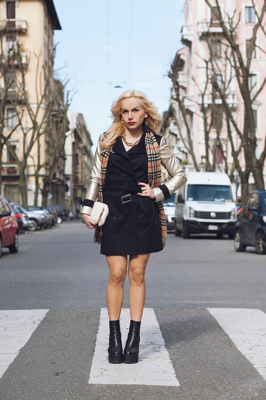 Trench primavera estate 2015, Ventifive abbigliamento Made in Italy, Kammi calzature, trench stile Burberry, best outfit Milan Fashion Week, streetstyle Milan Fashion Week - fashion blogger It-Gil by Eleonora Petrella