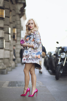 Giovanna Nicolai, foto Tiziana Gallo Damn Creativity, Sergio Levantesi scarpe tacchi, outfit streetstyle Milan Fashion Week 2015 - fashion blogger It-Girl by Eleonora Petrella