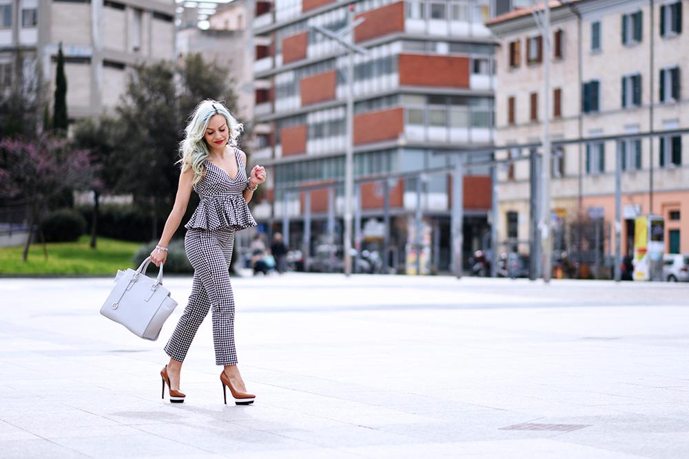 stampa Vichy, tendenza quadretti PE 2015, completo Zara quadretti, Vichy trend 2015, Gianni Altieri borse, Gianni Altieri bags - Idea Outfit primavera 2015 fashion blogger It-Girl by Eleonora Petrella