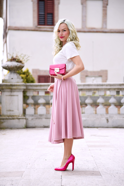 Shabby apple dresses and skirts, Yo limited t-shirt, metropolis Furla, borse Furla, Furla mini bag - outfit primavera 2015 fashion blogger It-Girl by Eleonora Petrella