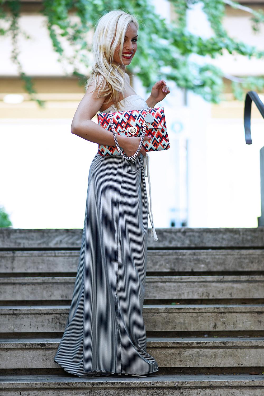 Loristella borse, Loristella prezzi, come indossare un pantalone palazzo, panta palazzo tendenza primavera/estate 2015, crop top, wide legs pants trend – outfit fashion blogger It-Girl by Eleonora Petrella