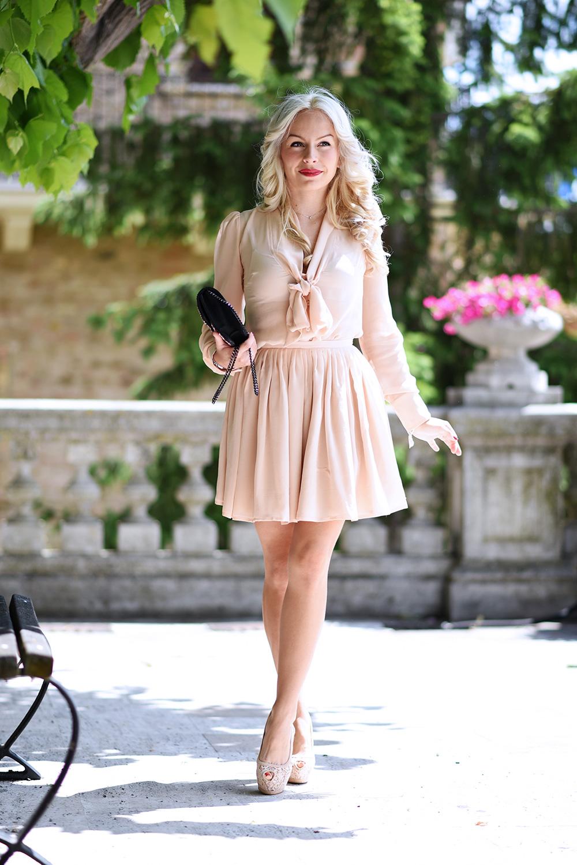 Ventifive abbigliamento, gonna a ruota, come indossare il rosa, how to wear pink, look femminili primavera 2015, outfit fashion blogger It-Girl by Eleonora Petrella