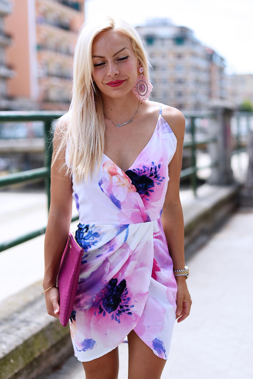 floral dress, Oasap dress, fashion dress, The peach box jewelry, Thepeachbox opinioni prezzi spese di spedizione, thepeachbox dogana - outfit summer 2015