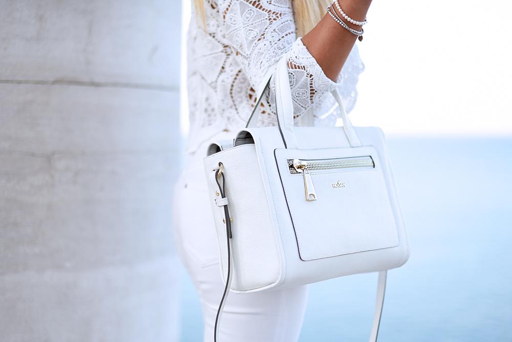 Hogan Brand sneaker H222, Hogan white bag, Hogan collezione estate 2015, saldi Hogan, white total look, come indossare il bianco – outfit summer 2015 fashion blogger It-Girl by Eleonora Petrella