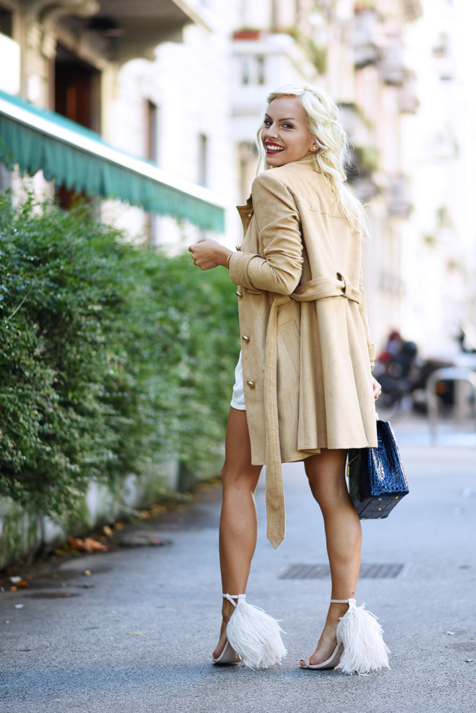 In my suede trench
