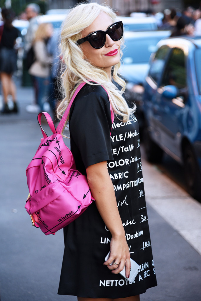Moschino dress + backpack