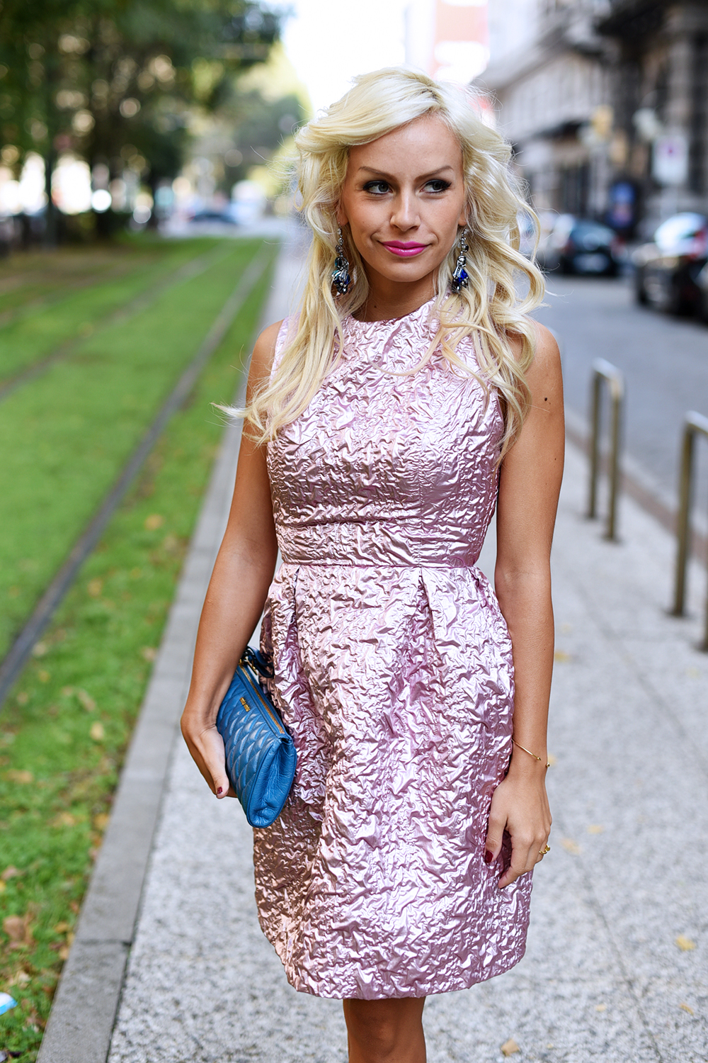 Giovanna Nicolai abiti cerimonie, Giovanna Nicolai vestiti, how to wear a pink dress, come indossare un vestito rosa, cosa abbinare ad un vestito rosa, Sergio Levantesi shoes scarpe - outfit fashion blogger It-Girl by Eleonora Petrella