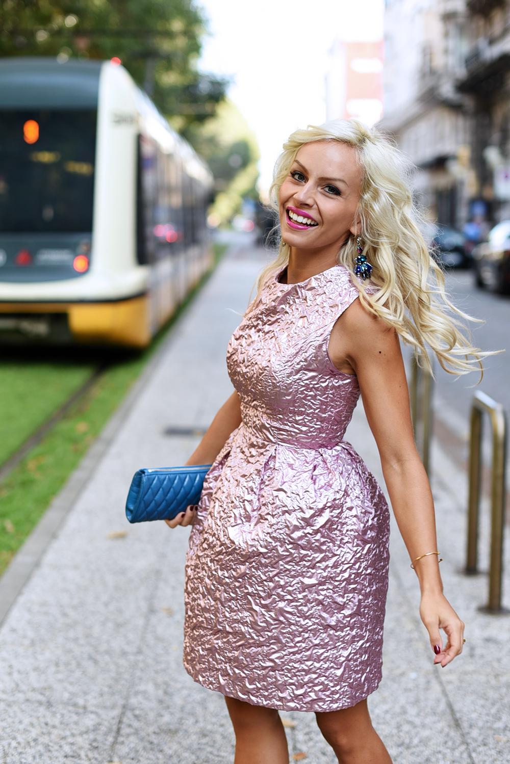 Giovanna Nicolai abiti cerimonie, Giovanna Nicolai vestiti, how to wear a pink dress, come indossare un vestito rosa, cosa abbinare ad un vestito rosa, Sergio Levantesi shoes scarpe - outfit fashion blogger It-Girl by Eleonora Petrella