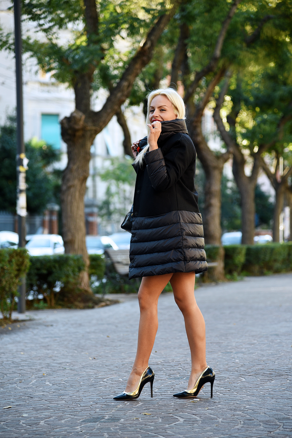 piumini invernali, giubbotto nero inverno 2015 - outfit fashion blogger It-Girl by Eleonora Petrella