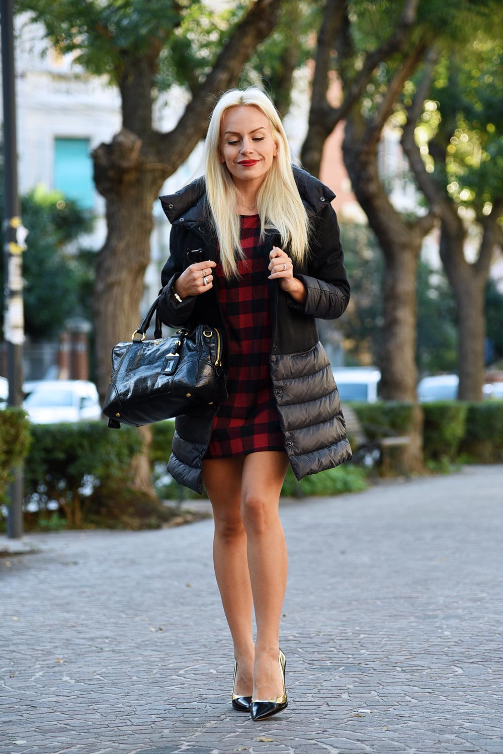 piumini invernali, giubbotto nero inverno 2015 - outfit fashion blogger It-Girl by Eleonora Petrella