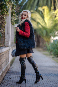 Elvio zanon stivali sopra ginocchio - fashion blog Eleonora Petrella