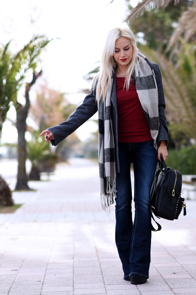 How to wear flared jeans?