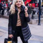 Oxford Street with my fav black coat – London