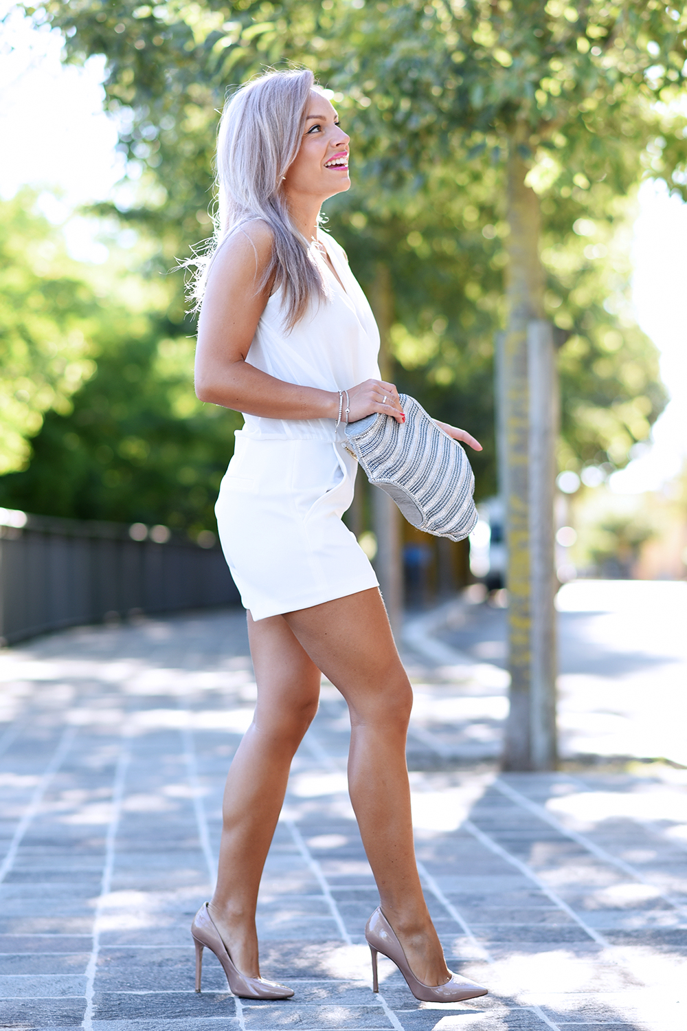 look total white tuta Ventifive 04