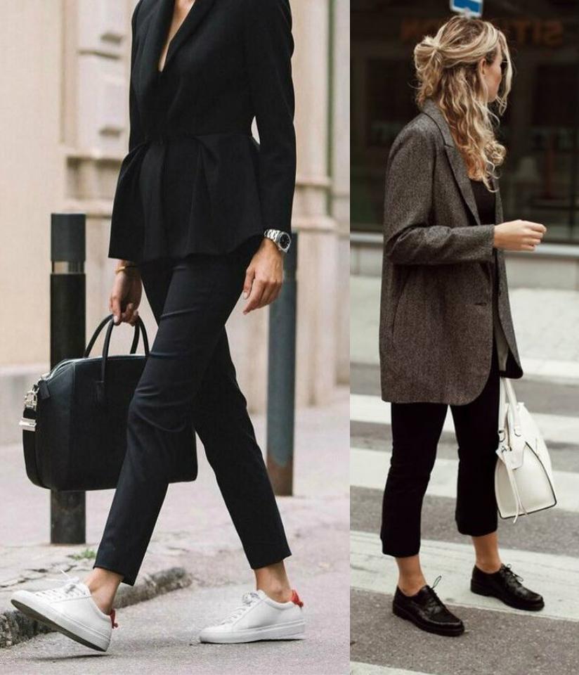 Elegante Donna Con Con Ballerine Con Pantalone Ballerine Pantalone Pantalone Elegante Donna 0nw8OPkX