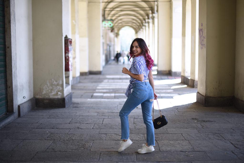 Jeans e sneakers Ecco bianche: il mio look per la primavera!
